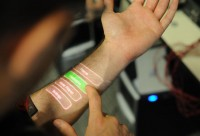 YOUR OWN SKIN USED AS A TOUCHSCREEN
